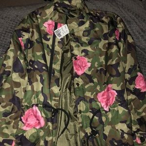 2 camp and floral light jackets